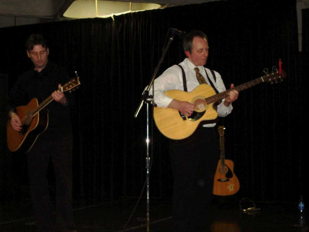 Nigel Coleman and Gerry Mulvenna at the Performing Arts Centre, UL (March 2009)